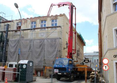 Dostarczaliśmy beton towarowy do na Plac Pocztowy w Zielonej Górze